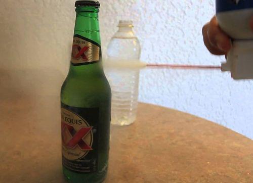 enfriar cerveza con spray