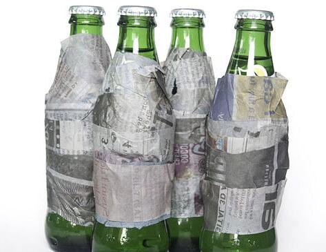 Enfriar cerveza con papel