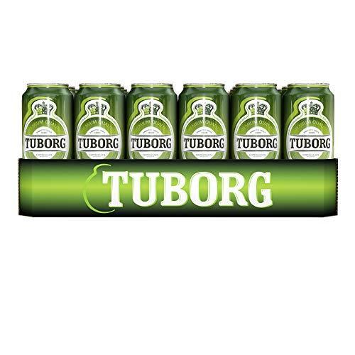 2 x Tuborg Pilsener de Dinamarca 24x 0.5L = 48 latas 4.9% vol_De una sola mano