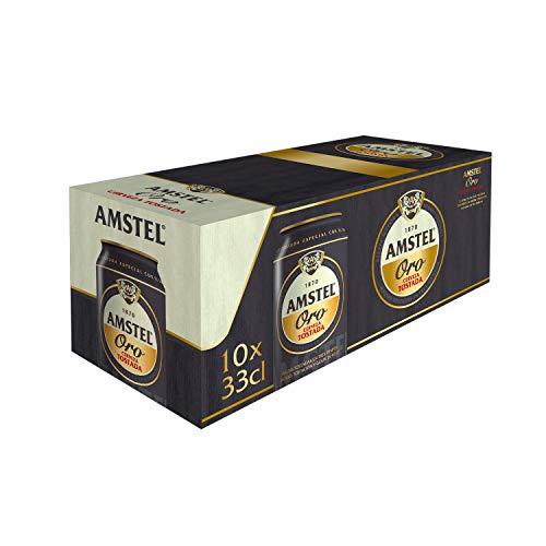Amstel Oro Cerveza - Paquete de 10 x 330 ml (Total: 3300 ml)