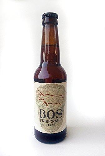 Cerveza Artesanal de Bellota Bos Primigenius. Pack de 12. Botellas de 33cl.