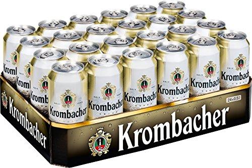 24x0,5L latas Krombacher Pils 4.8% Vol. de una sola mano