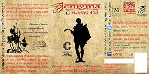 Cervezas Enigma - Cervantes 400-24 botellas x 0,33 L