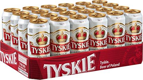 24x0,5L Tyskie Pils Cerveza Gronie de Polonia 5.2% Vol_ desechable